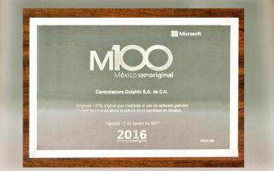 "Grupo Dolphin Discovery recibe el certificado ""M100 Microsoft México 100% Original"""